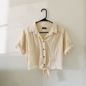 Vintage Style Button Down Tee